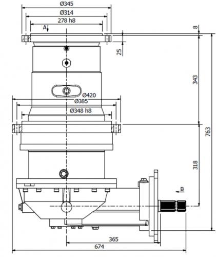Reducer for biomas mixer GL-3